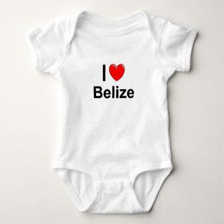 I Love Heart Belize Baby Bodysuit