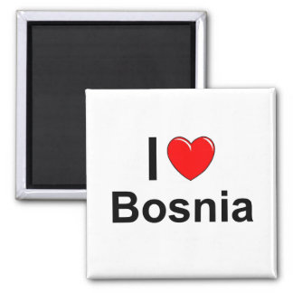 I Love Heart Bosnia Magnet
