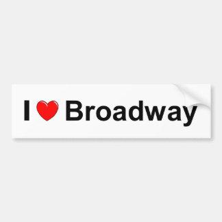 I Love Heart Broadway Bumper Sticker