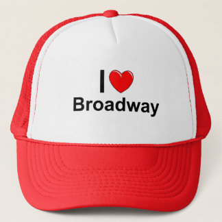 I Love Heart Broadway Trucker Hat