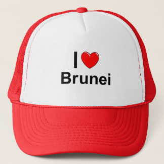 I Love Heart Brunei Trucker Hat