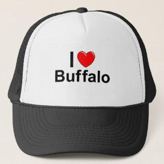 I Love Heart Buffalo Trucker Hat