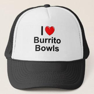 I Love Heart Burrito Bowls Trucker Hat