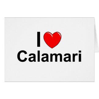 I Love Heart Calamari Card