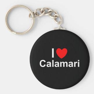 I Love Heart Calamari Key Ring