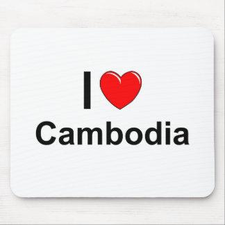I Love Heart Cambodia Mouse Pad