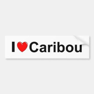 I Love Heart Caribou Bumper Sticker
