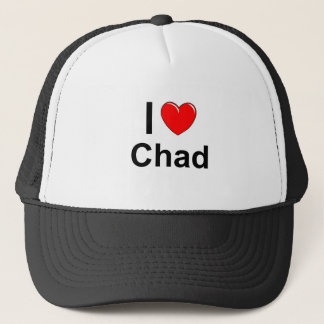 I Love Heart Chad Trucker Hat