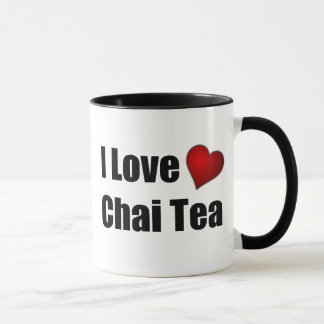 I Love (heart) Chai Tea - Customizable Tea Mug