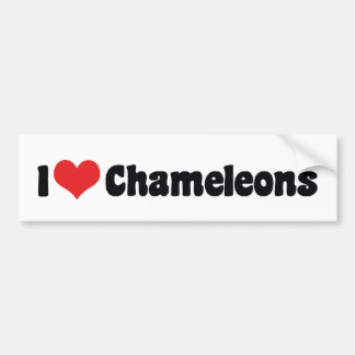 I Love Heart Chameleons - Lizard Lover Bumper Sticker