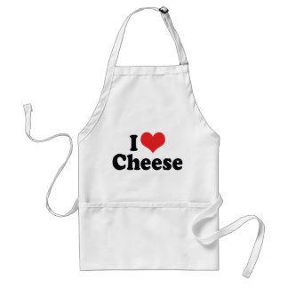 I Love Heart Cheese - Dairy Lover Standard Apron