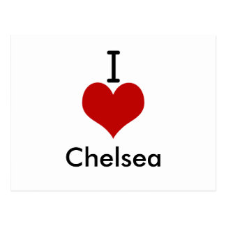 I Love (heart) Chelsea Postcard