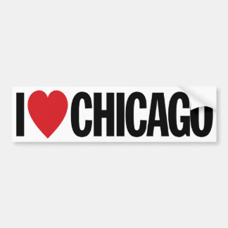 """I Love Heart Chicago 11"""" 28cm Vinyl Decal"""
