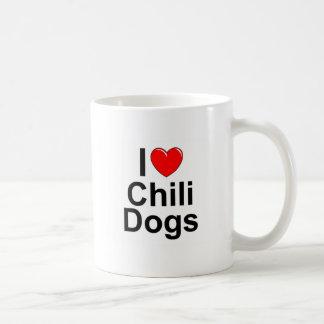 I Love (Heart) Chili Dogs Coffee Mug