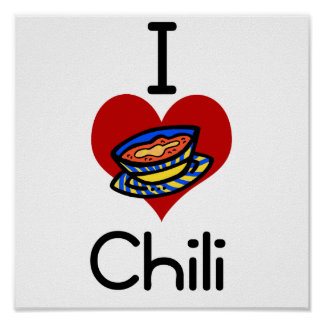 I love-heart chili poster
