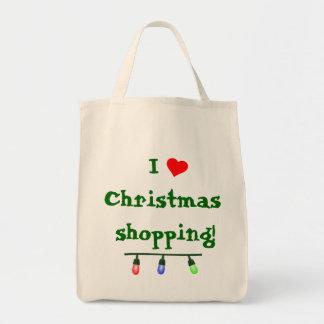 I Love (heart) Christmas Shopping Bag