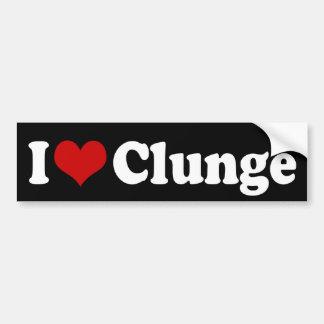 I LOVE {HEART} CLUNGE BUMPER STICKER