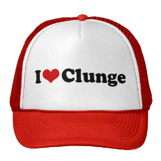 I LOVE {HEART} CLUNGE TRUCKER HATS