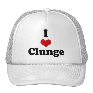 I LOVE {HEART} CLUNGE TRUCKER HAT