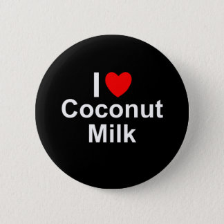 I Love Heart Coconut Milk 6 Cm Round Badge