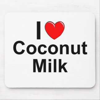I Love Heart Coconut Milk Mouse Pad