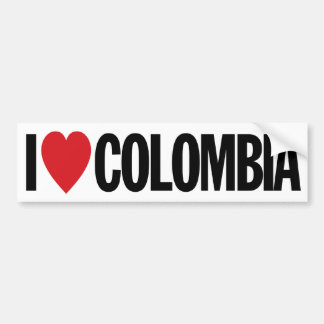 """I Love Heart Colombia 11"""" 28cm Vinyl Decal"""