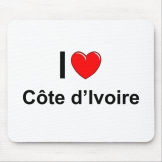 I Love Heart Côte d'Ivoire Mouse Pad