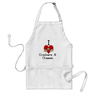 I love-heart crackers Cheese Aprons