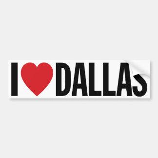 "I Love Heart Dallas 11"" 28cm Vinyl Decal"
