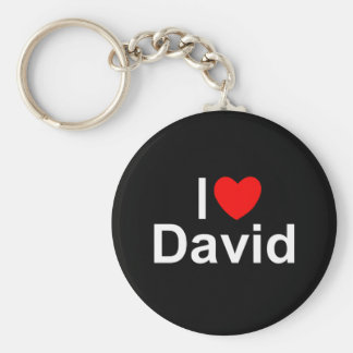 I Love (Heart) David Key Ring
