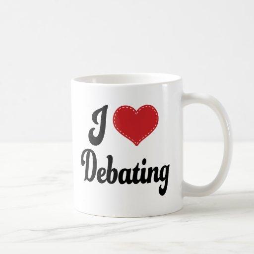 I Love (Heart) Debating Mug