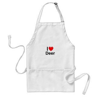 I Love Heart Deer Standard Apron