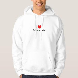 I Love Heart Democrats Hoodie