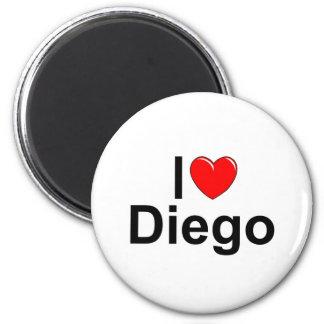 I Love (Heart) Diego 6 Cm Round Magnet