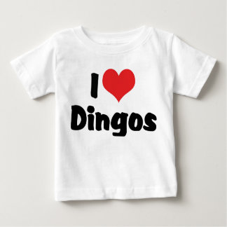 I Love Heart Dingos Baby T-Shirt
