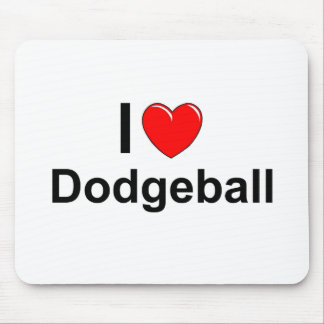 I Love Heart Dodgeball Mouse Pad
