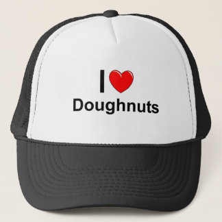 I Love Heart Doughnuts Trucker Hat
