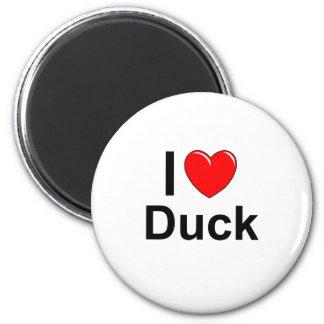 I Love Heart Duck Magnet