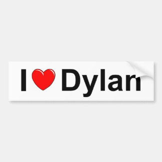I Love (Heart) Dylan Bumper Sticker