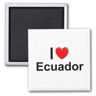 I Love Heart Ecuador Magnet