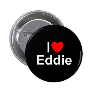 I Love (Heart) Eddie 6 Cm Round Badge