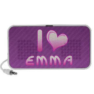 i love / heart emma doodle speakers for Emma lover