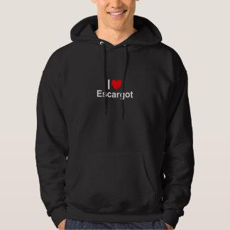 I Love Heart Escargot Hoodie