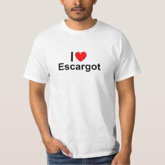 I Love Heart Escargot T-Shirt