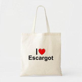 I Love Heart Escargot Tote Bag