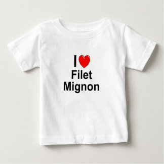 I Love Heart Filet Mignon Baby T-Shirt