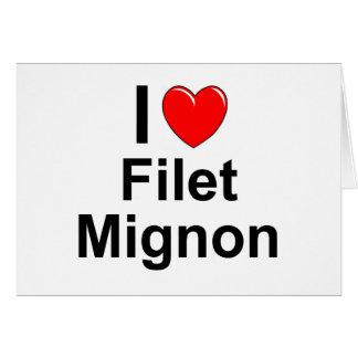 I Love Heart Filet Mignon Card