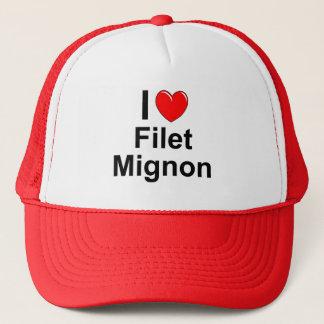 I Love Heart Filet Mignon Trucker Hat