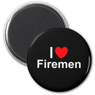 I Love Heart Firemen Magnet