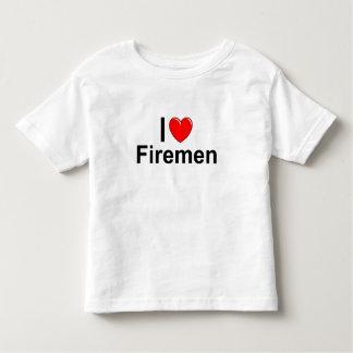 I Love Heart Firemen Toddler T-Shirt